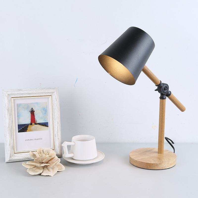 Black Wooden Table Lamps