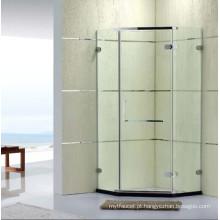Sanitary Wares Australian Standard Frameless simples chuveiro com dobradiça (P14)