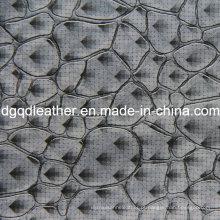 Moda pedra padrão de móveis de decoração de couro (QDL-51384)