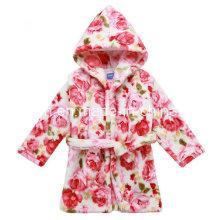 Kinder Kapuzen Bademantel Flanell Nightgown