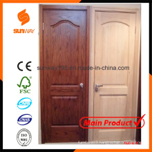 The Popular Solid Wooden Door Design with Competitive Price