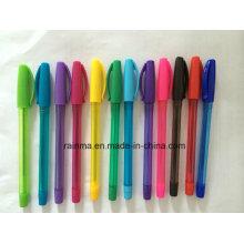 Plastikstock-Kugelschreiber für zurück zu Schulbriefpapier-Versorgung