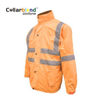 Hallo Vis Orange Winter Safety Coat