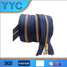 8 # Ykk metal de calidad latón cremallera para bolsas o maletas