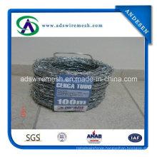 12*14gauge Galvanized Double Twist Barbed Wire