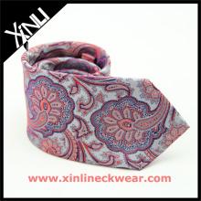 Perfecto cuello nudo chino barato Jacquard tejido Paisley utiliza lazos de seda
