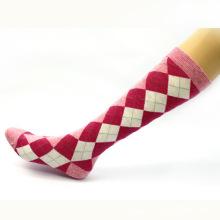 Women′s Lady′s Cotton Check Pattern Stockings (TA206)