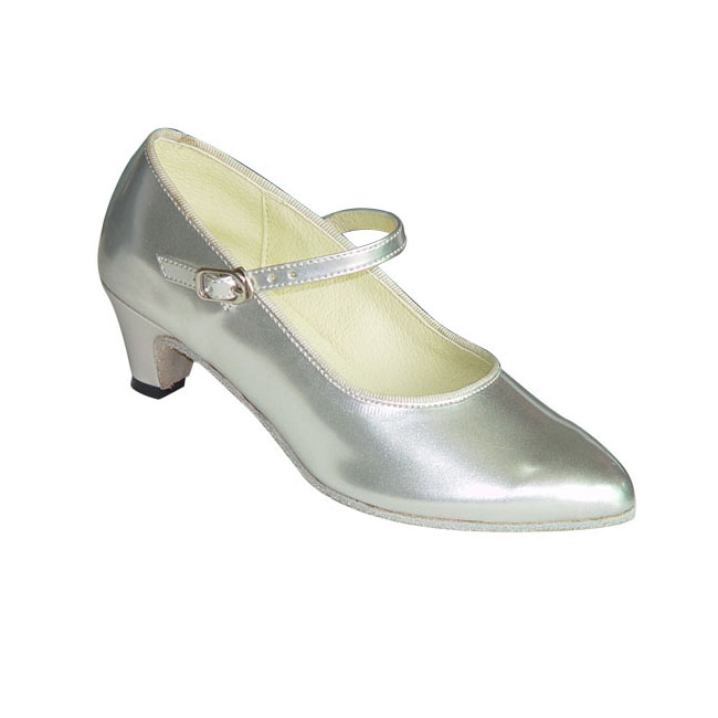 Silver Ballroom Shoes For Girls