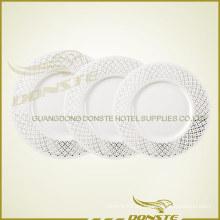 Placas de cerámica manchadas China de hueso Serie de placas de flores