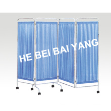 (D-37) Stainless Steel Four Fold Screen
