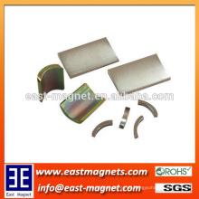 Weit verbreitetes permanentes gesintertes ndfeb Bogenmagnet für Verkauf / kundenspezifisches elektrisches Färben verzinktes Segment