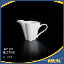 Diseño especial hotel elegante real uso pequeña porcelana vajilla de leche
