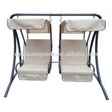 Metal outdoor garden 2-seater swing chair