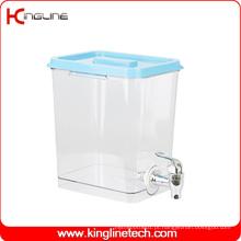 1 Gallon Square Plastic Water Jug Venda Atacado BPA Free with Spigot (KL-8021)
