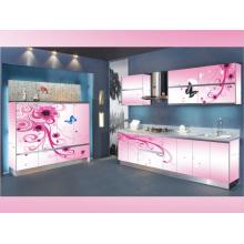 Rta Pink L Shape Kitchen Cabinet
