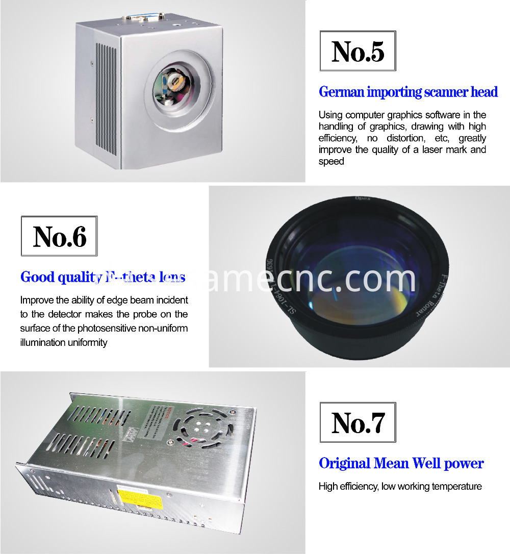 Portable metal laser marking machine