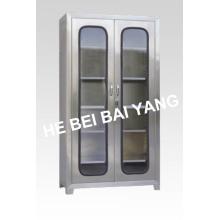 (C-1) Gabinete de instrumento de aço inoxidável de duas portas
