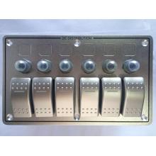 12V 24V 6 Gang Ausgezeichnete Qualität mit Leistungsschalter Aluminium LED Wippschalter