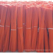 Marcador de entrada de fibra de vidrio naranja con cinta reflectante de 9 ''