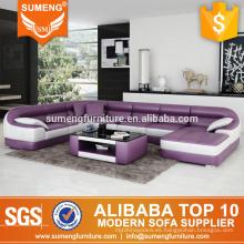 Sofá moderno de la esquina del nuevo diseño de la forma redonda de moda, diseños y precios determinados del sofá del sofá de la esquina, sofá de la esquina