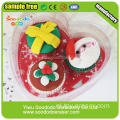 PVC Verpakking Delicous Christmas Gift Cake Shaped Eraser