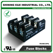 FB-M033PQ 600V 30 Amp 3 Póeles 10x38 Bloqueo de portafusibles enano