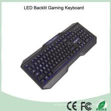 Multi 3 Colors 104 Keys Wired Letter Illuminated Ergonomics Keyboards (KB-1801EL)