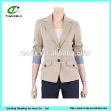 Casaco de jaqueta para senhoras 100% algodão lavado