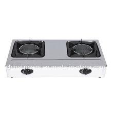 Cuisinière à gaz 2 brûleurs en acier inoxydable 150