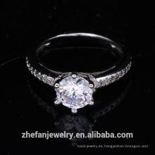 suministros al por mayor de la joyería china anillo de bodas accesorios de mujer cz anillo