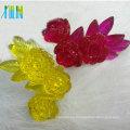 High flatback clear jelly neon effect resin flower 25mm*45mm