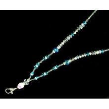 Crochet fait à la main en métal Cristal perlé Bling Lanières