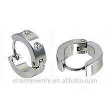 Оптовые нержавеющая сталь Мужская Huggie Hoop Earring HE-012