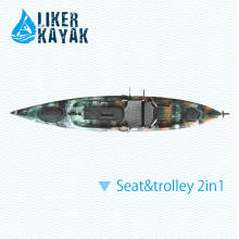4.3m 158kgs Capacity Sit on Top Fishing Angler Kayak