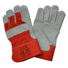 Ce En388 Cow Split Leather Cut Resistant Hand Protective Gloves for Riggers