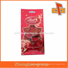 Flat bottom side gusset plastic bag with hanger hole for milk candy china