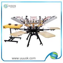 6 Farbe 6 Station rotary Siebdruckmaschine