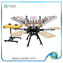 6 color 6 station rotary screen printing machine