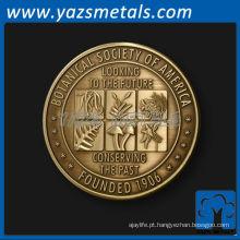 personalizar moedas de metal, customizado de alta qualidade acadêmico antigo palco de metal moedas 3D
