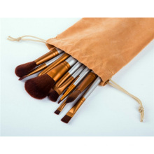 Wisdom 11PCS Professional Cosmetic Makeup Brush Set with Canvas