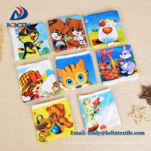 Wärmetransferdruck 100% Polyester Mikrofaser Kinder Cartoon Handtuch