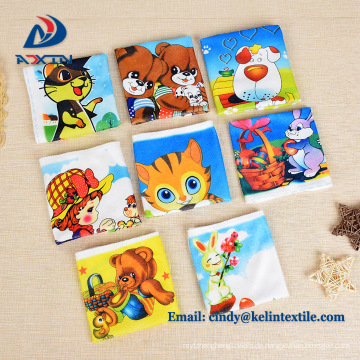 Wärmetransferdruck 100% Polyester Mikrofaser Kinder Cartoon Handtuch