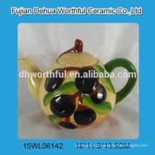 Cerâmico, chá, pote, azeitona, FORMA