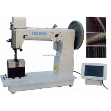 Heavy Duty Post Bed Triple Feed Ornamental Stitching Machine for Leather and Fabrics