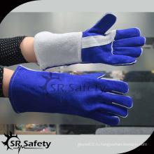 SRSAFETY Высококачественные промышленные перчатки для кожи коровы