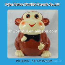 2016 Tarro de cerámica de la galleta del mono de la nueva llegada