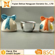 Ovos de páscoa de cerâmica forma doce pequeno frasco para dom de páscoa