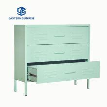 Four Color Fashion Metal Room Furniture Storage Cabinet Wardrobe