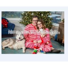 2017 vente chaude famille vêtements ensemble 100% coton correspondant famille pyjamas de Noël en taille adulte