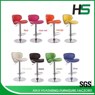 Venda de alumínio escolha colorida barra giratória cadeira alta